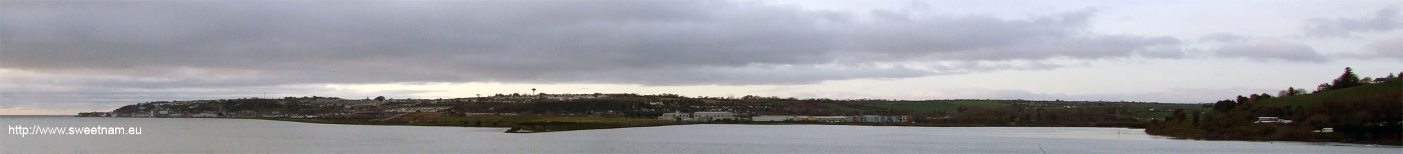 Panoramic photo of Youghal taken from the Waterford side of the Blackwater bridge.