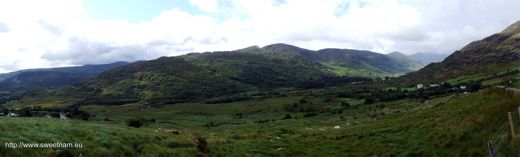 Panoramic photo of the Black Valley, Co. Kerry.